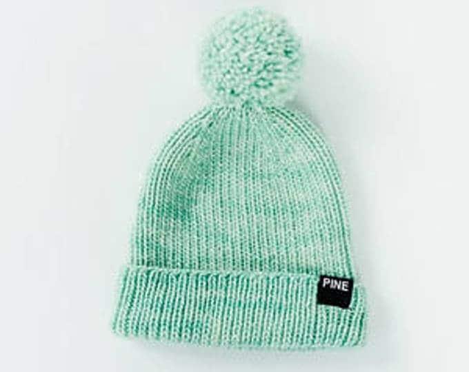 Mint Cozy-Knit Beanie