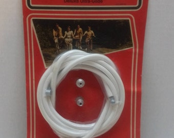 Universal Bicycle Brake Cable Deluxe Ultra Glide, White, Sears NOS #49711 for Vintage Bikes Bicycling