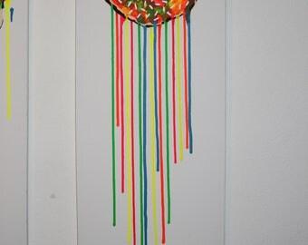 Neon donut painting
