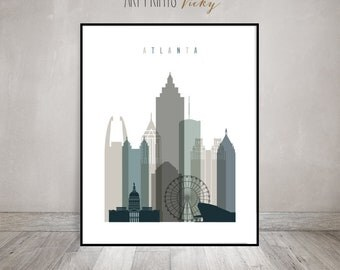Atlanta Art Print Poster by ArtPrintsVicky