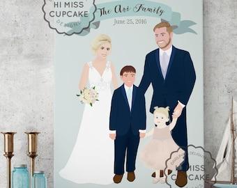 Unique Wedding Gift / Wedding Gift Ideas / Gift for her / Wedding illustration / Wedding portrait / Wedding gift / Couple portrait