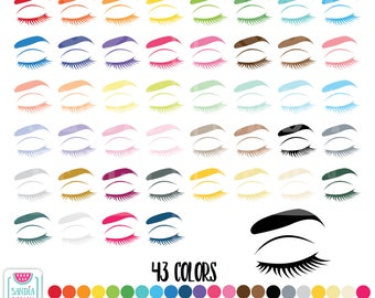 43 Eyebrow Clipart. Personal and comercial use.