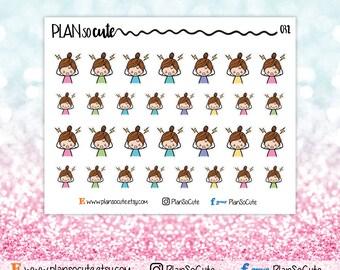 Headache Migraine Stickers, Sick day Stickers, Planner Stickers -032