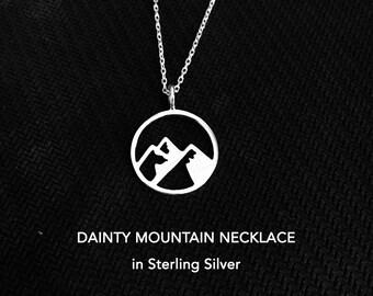 Dainty Mountain Necklace, Mountain Necklace, Mountain Jewelry