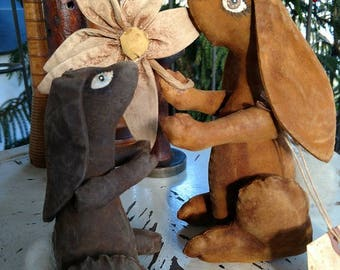 EASTER COTTONTAIL MOMMA Primitive