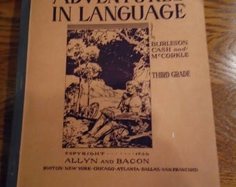 1936 Adventures In Language Student Language Arts Workbook by Allyn and Bacon