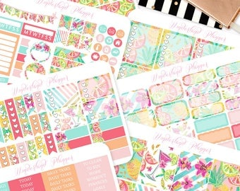 Summer Fruits - Tropical Themed Planner Sticker Kit // 180+ Stickers // Perfect for Erin Condren Vertical Life Planner
