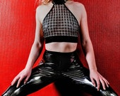 Black latex structured to...