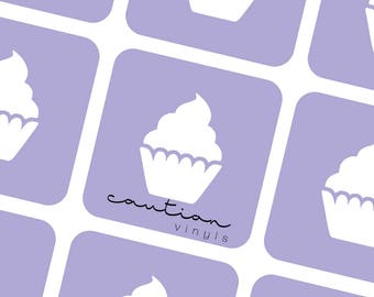 Cupcake Nail Vinyl - Nail Stencil for Nail Art