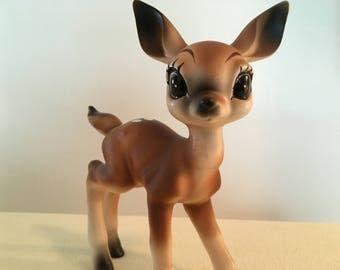 Sweet Big Eyed Vintage Deer Figurine