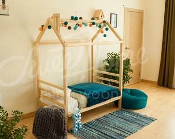 Superb Kinder Bett Haus FULL / QUEEN, Rahmen Bett, Kindermöbel, Kinderzimmer  Kinderbett Babybett, Photo Gallery