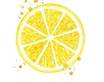 citrus print watercolor lemon print lemon watercolor kitchen wall decor watercolor fruit print kitchen painting citrus fruit art