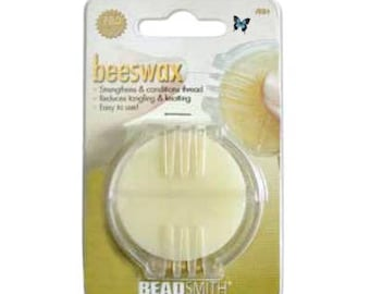 Beeswax Thread Conditioner, PRO Quality, Beadsmith Bees Wax, Bead Stringing Bead Weaving and Sewing Supply