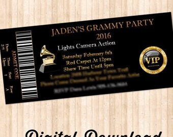 Grammy Ticket Invitations