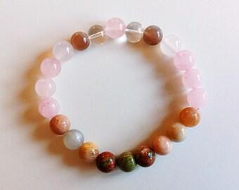 Fertility Bracelet, healing bracelet, fertility Jewelry, crystal healing jewelry, baby shower, trying to conceive, pregnancy, rose quartz