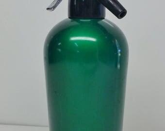 Retro Vintage Emerald Green Soda Syphon / Siphon Anodised Sparklets England.
