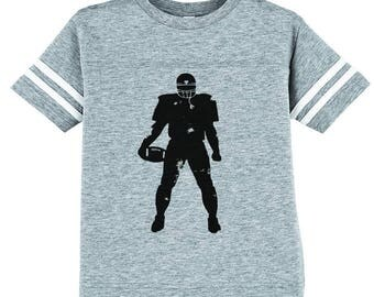 Kid's Football Player Shirt, Youth Football Shirt, Football Tee, Football, Kid's Football Shirt, Printed Football Tee, Kid's Football Tee,