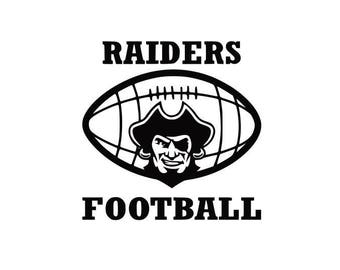 Raiders Football high school college SVG File Cutting, DXF, EPS design, cutting files for Silhouette Studio and Cricut Design space
