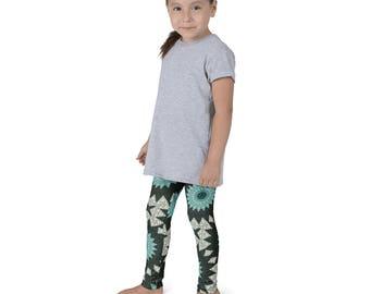 Activewear for Children, Girls Printed Yoga Pants, Kids Yoga Leggings