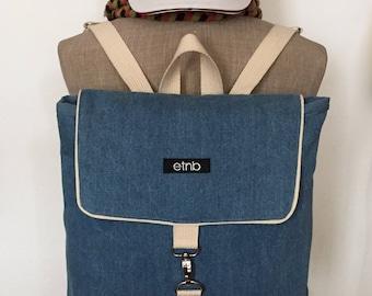 Jeans backpack, Jeans bags, Denim backpack, Denim bags, Backpack vintage, Backpack denim, Backpack jeans, Minimal backpack, Cute bag - Jenny