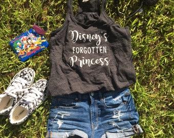 Disney's Forgotten Princess Tank Top. Racerback. Disney Shirt. Tank Top. Disney Tank Top. Cinderella Tank