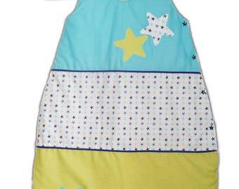 Sleeping bag - sleeping bag - cozy quilted baby - stars - (0-6 months) - baby Sleep Sack - Sleeping Bag Baby