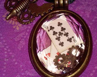 Hinged locket with cards and gears  LP-3