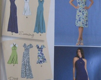 Pattern for misses knit dresses sizes 14,16,18,20,22.  Simplicity no. 2580