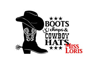 Boots Chaps Cowboy hats   SVG, DFX  Cut file  Cricut explore file T SHIRT decalscrapbook vinyl decal wood sign t shirt cricut cameo
