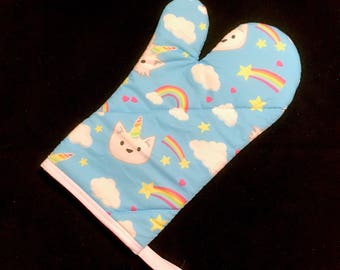 Unicorn Cat Oven Mitt