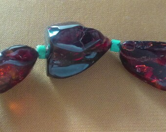 Rare Dark Red Amber Beads, Chiapas Mexico