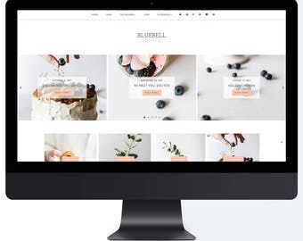Bluebell | Responsive Blogger Template With LANDING PAGE + Free Installation