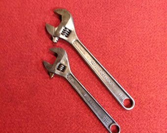 "Vintage Adjustable Wrench Wrenches J-H Williams ""Superjustable"" And P&C 1710-S Both High Quality Forged Alloy Steel Made In USA"