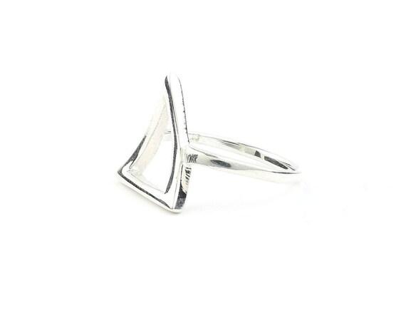 Sterling Silver Triangle Ring, Geometric Ring, Minimalist Ring, Modern Jewelry, Boho, Bohemian, Gypsy, Festival Jewelry