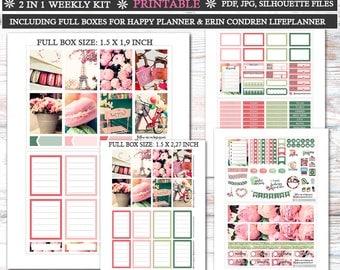Valentines Day in Paris Photo Planner Stickers/Printable Planner Stickers/Happy Planner Stickers/Valentines Day Stickers for Erin Condren