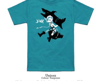 Jinx T-Shirt // Gaming Gifts // League of Legends // Apparel // Men and Women Sizes Available