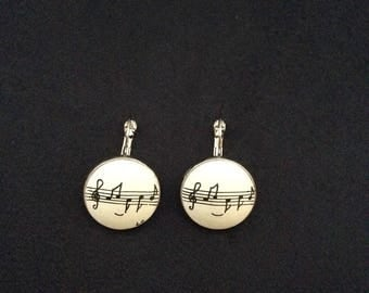 Earrings 'Laurette' music note