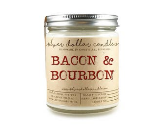 Bacon & Bourbon Candle - Boyfriend Gift, Man Candle, Fathers Day Gifts, Valentines Gifts for him, Man Candles, Gifts for him, dad gift idea