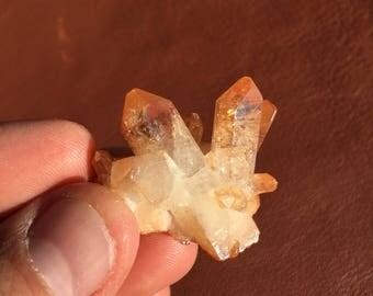 Tangerine Aura Quartz/ Crystal Grid/ Shaman Stone/ Labradorit Herzstuck/ Wicca Altar/ Spectrolite/ Lemurian Quartz/ Gifts for Her Him/ Gems