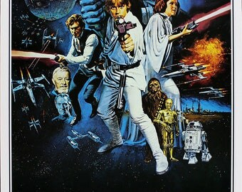 Star Wars Movie Poster A3 or A4 Matt