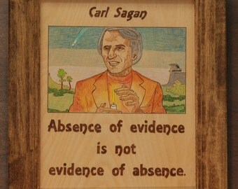 Carl Sagan - portrait and quote