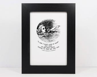 Framed Lewis Carroll Alice In Wonderland Quote | Inspirational Quote | Lewis Carroll Quote | Book Quote | Alice's Adventures In Wonderland