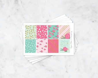 Minty Floral Weekly Kit