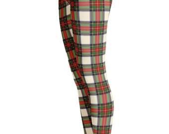 Plaid Leggings - Plaid Texture Leggings - Christmas Plaid Leggings - Plaid Clothing - Print Leggings - Womens Leggings - Kids Leggings