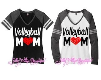 Volleyball mom shirt, Volleyball mom top, Volleyball Heart shirt, Volleyball heart, sports mom shirt, Volleyball Mom,mom spirit shirt