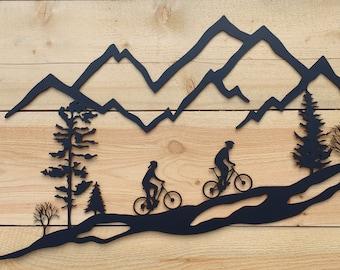 Mountain bike art | Etsy