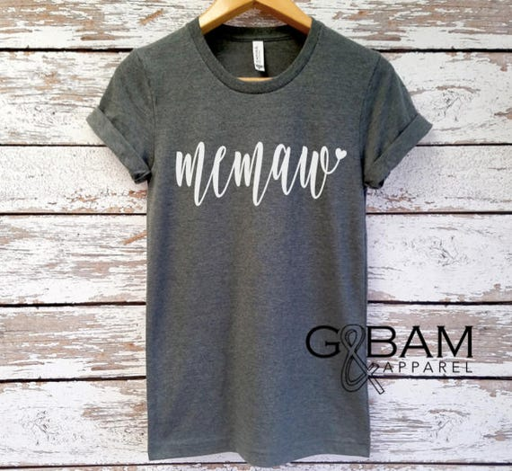Boyfriend tee / Memaw Shirt /  GRANDMA SHIRT /Grandma tee/ You're a grandma / Grandma gift / future grandma / we're Pregnant