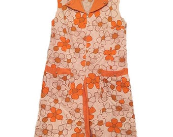 1970's Sunny Flower Power Dress