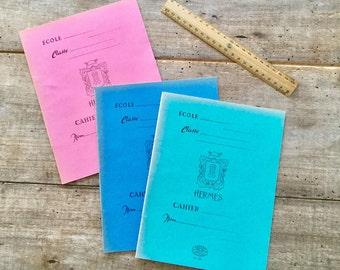 Cahiers d'école, cahiers d'écolier, carnets anciens, cahiers d'écriture, French vintage, fournitures scolaires