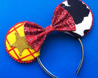 Woody Mouse Ears, Toy Story Ears, Toy Story Inspired Ears